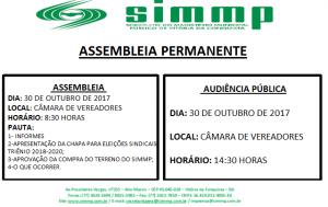 ASSEMBLEIA PERMANENTE 30 DE OUTUBRO