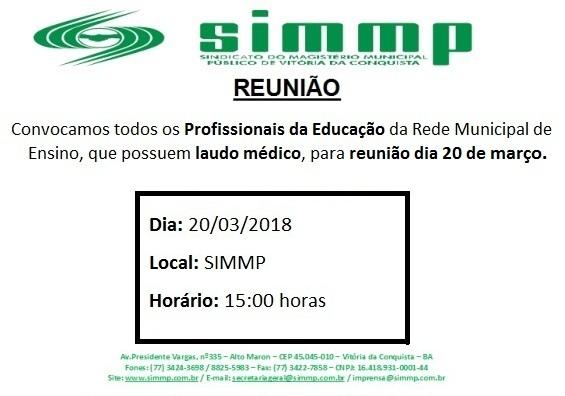 Reunião Laudo - 20-03-2018