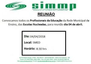 Reunião Escolas Nucleadas 04-04-2018